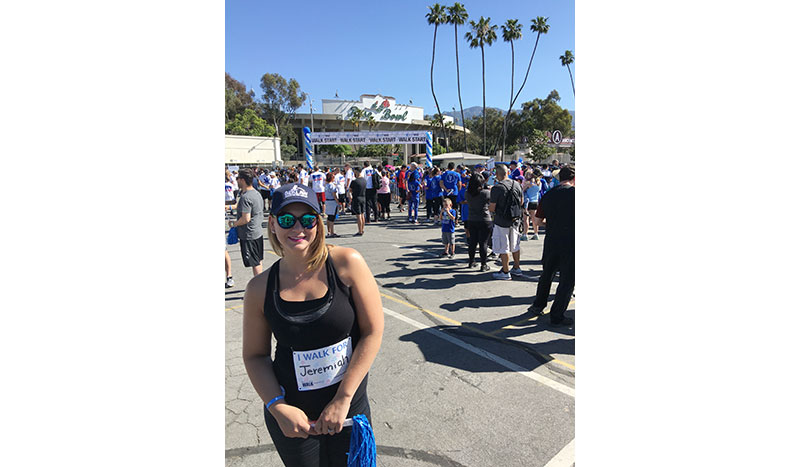 Kelly walks for autism